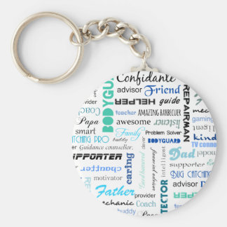 All the things a dad is to me typography keychain