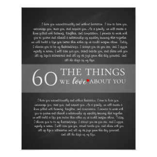 all the things we love about you, 60th birthday poster