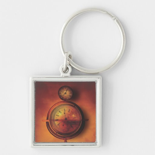 All the Time in the World Steampunk Clock Globe Keychain