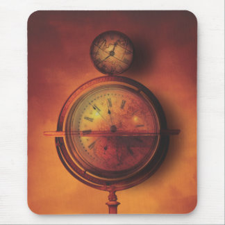 All the Time in the World Steampunk Clock Globe Mouse Pad