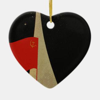 all the way up to the stars - soviet union propaga ceramic ornament