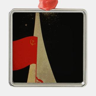 all the way up to the stars - soviet union propaga metal ornament