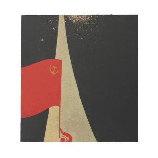 all the way up to the stars - soviet union propaga notepad