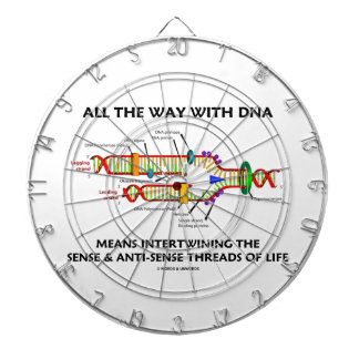All The Way With DNA Intertwining Sense Anti-Sense Dartboard