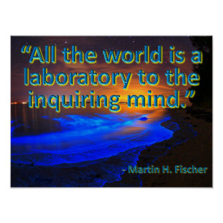 All the World is a Laboratory Poster
