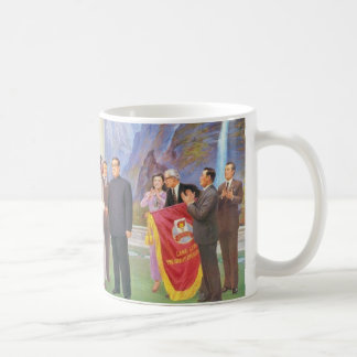 All The World Loves the Dear Leader Classic White Coffee Mug