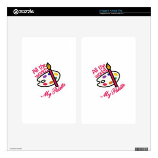 All The World Palette Kindle Fire Decals