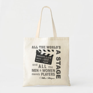 All the world's a stage budget tote bag