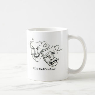 all the worlds a stage classic white coffee mug