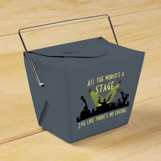 All the World's a Stage Favor Box