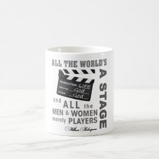 All the world's a stage coffee mugs