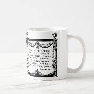 All the World's a Stage Mug, Shakespeare Quote Coffee Mug