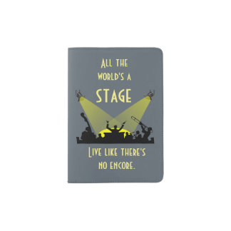 All the World's a Stage Passport Holder