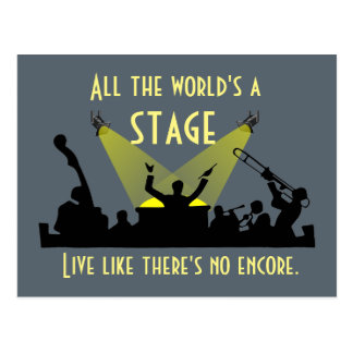 All the World's a Stage Postcard