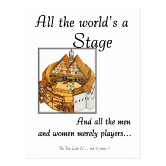 All the worlds a stage postcard