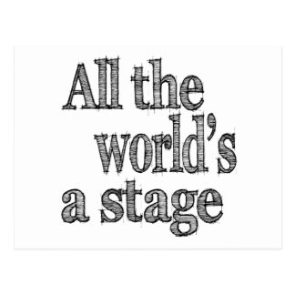 All the World's a Stage Quote Post Card