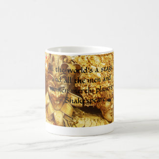 All the world's a stage Shakespeare quote Classic White Coffee Mug