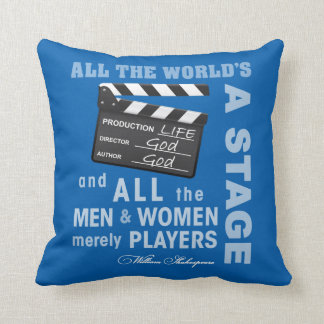 All The World's a Stage Throw Pillow