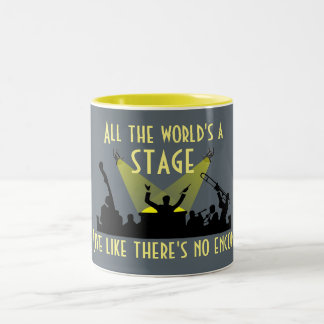 All the World's a Stage Two-Tone Coffee Mug