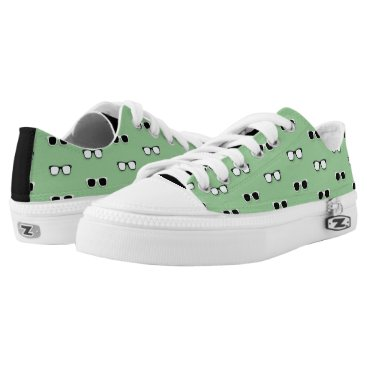 Beach Themed All Them Glasses - Green Low-Top Sneakers