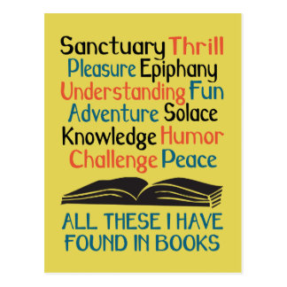 All These I Have Found in Books Postcard