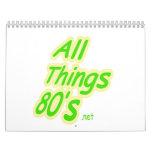 All Things 80's Calandar Calendars