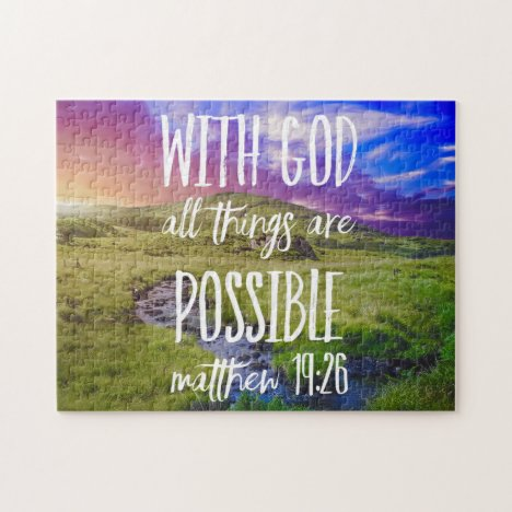 All Things Are Possible Bible Verse Christian Jigsaw Puzzle