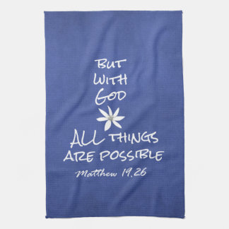 All things are Possible Bible Verse Hand Towel