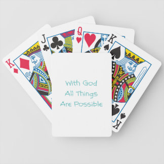 All Things Are Possible Bicycle Playing Cards