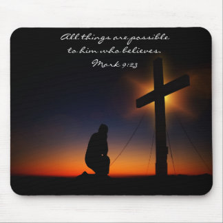 All things are possible Christian Mousepad