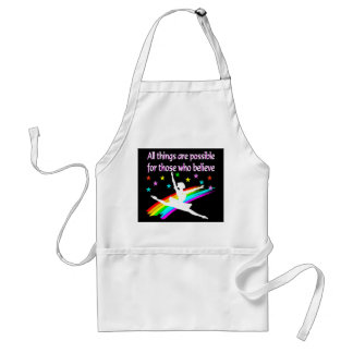 ALL THINGS ARE POSSIBLE DANCER DESIGN ADULT APRON