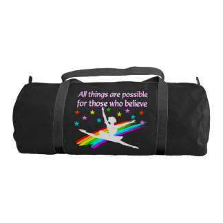 ALL THINGS ARE POSSIBLE DANCER DESIGN GYM DUFFLE BAG