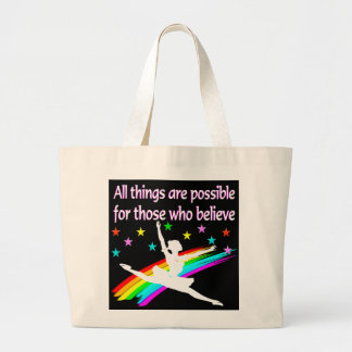 ALL THINGS ARE POSSIBLE DANCER DESIGN JUMBO TOTE BAG