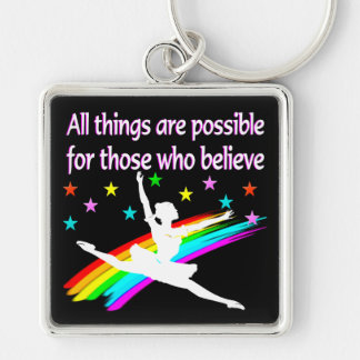 ALL THINGS ARE POSSIBLE DANCER DESIGN KEYCHAIN