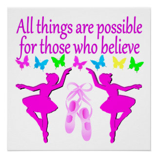 ALL THINGS ARE POSSIBLE DANCER DREAM POSTER
