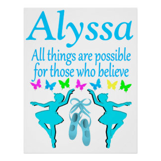 ALL THINGS ARE POSSIBLE FOR THIS DANCER POSTER