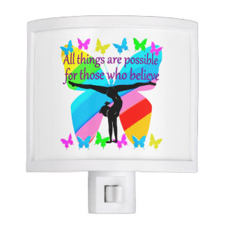 ALL THINGS ARE POSSIBLE FOR THIS GYMNASTICS GIRL NIGHT LIGHT