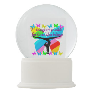 ALL THINGS ARE POSSIBLE FOR THIS GYMNASTICS GIRL SNOW GLOBE