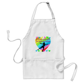 ALL THINGS ARE POSSIBLE FOR THIS SKATER ADULT APRON