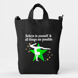 ALL THINGS ARE POSSIBLE GYMNASTICS DESIGN DUCK CANVAS BAG