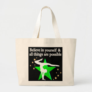 ALL THINGS ARE POSSIBLE GYMNASTICS DESIGN JUMBO TOTE BAG
