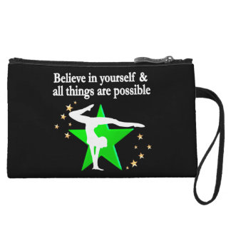 ALL THINGS ARE POSSIBLE GYMNASTICS DESIGN WRISTLET PURSE