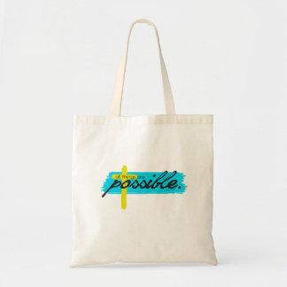 All Things Are Possible Mark 19:26 Inspired Tote Budget Tote Bag