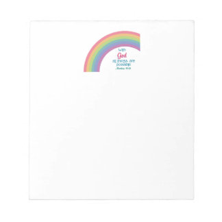 All Things are Possible Memo Notepads
