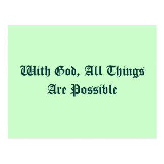 All Things Are Possible Postcards