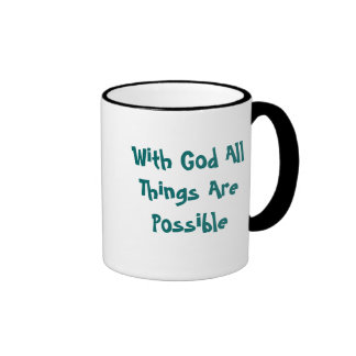 All Things Are Possible Ringer Mug