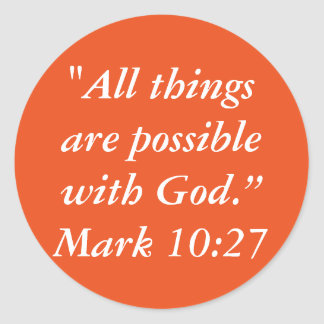 """All Things are Possible"" Scripture Craft Sticker"