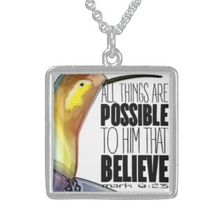 """All Things Are Possible..."" SS Necklace"