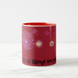 All things are possible Two-Tone coffee mug