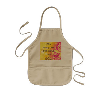 All things are possible with god. kids' apron